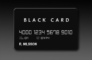 Credit Card - Black Card