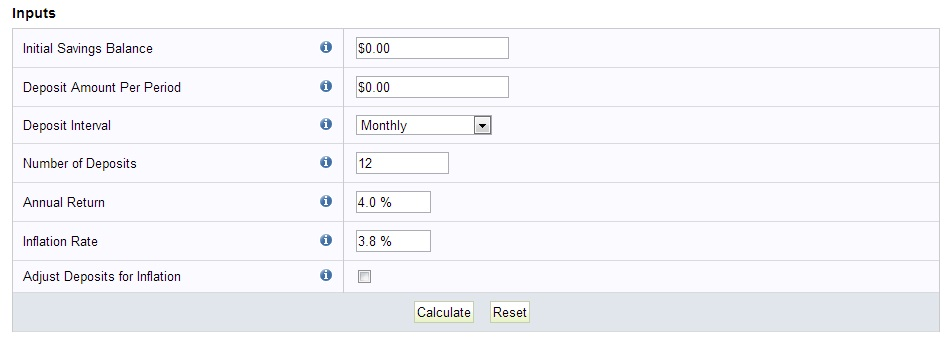 FINRA Savings Calculator
