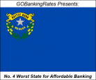 Nevada worst state for affordable banking