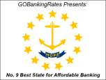 Rhode Island best state affordable banking