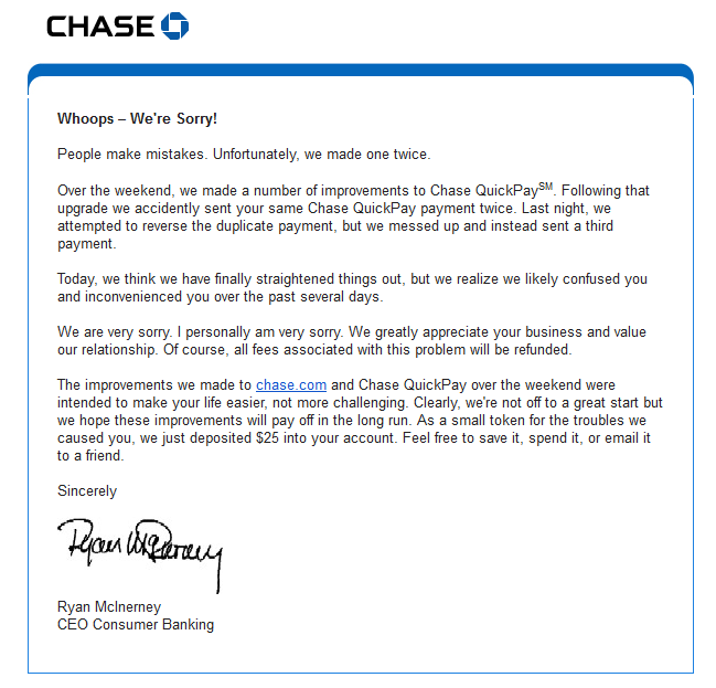 chase person to person quickpay